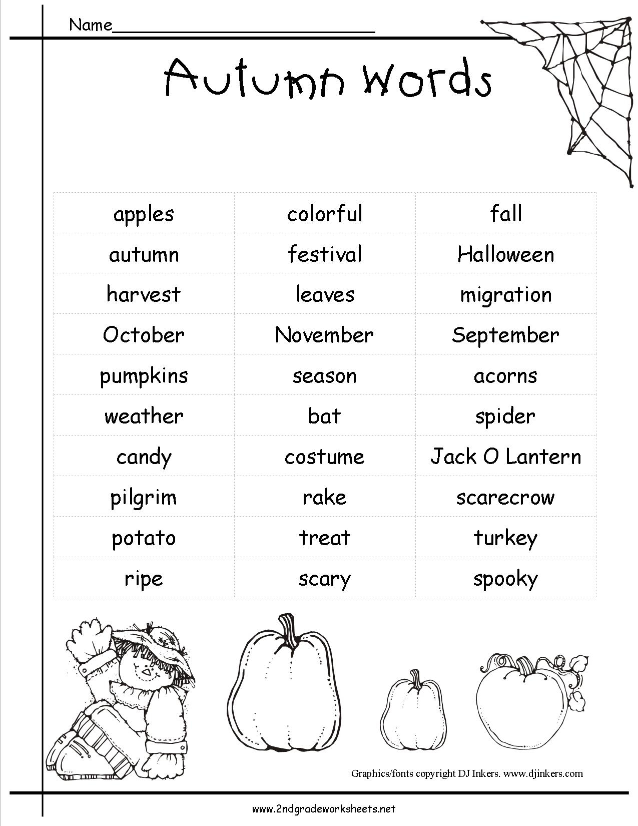 Autumn Theme Worksheets And Printouts. | Printable Fall Worksheets