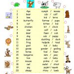 Baby Animals Worksheet   Free Esl Printable Worksheets Madeteachers | Owl Babies Printable Worksheets