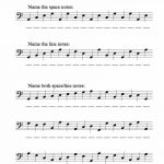 Bass Clef Note Recognition – Worksheet | Music Worksheets | Bass | Reading Music Worksheets Printable