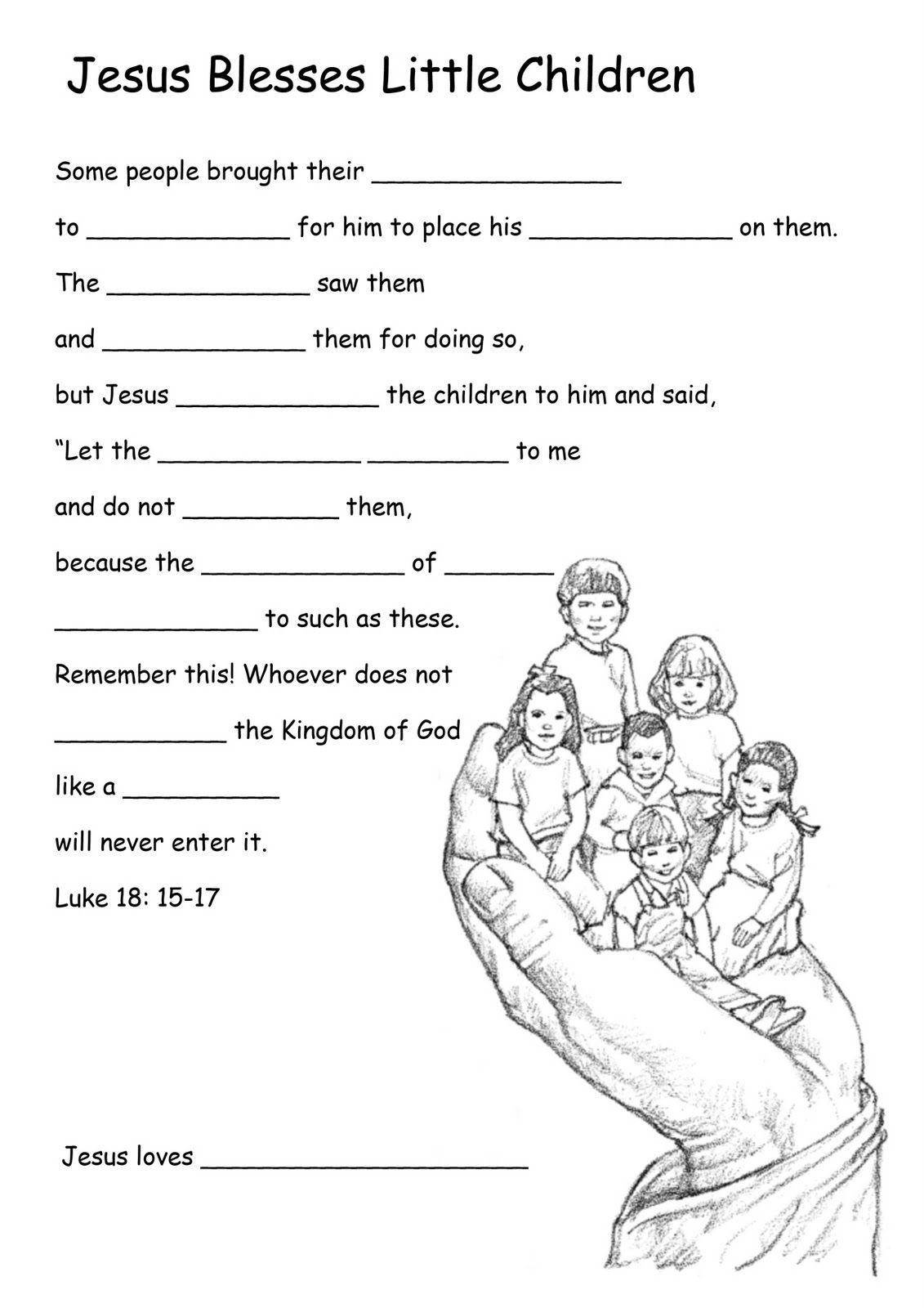 Bible Kids Worksheets | Growing Kids In Grace | Bible Curriculums | Printable Worksheets Miracles Jesus