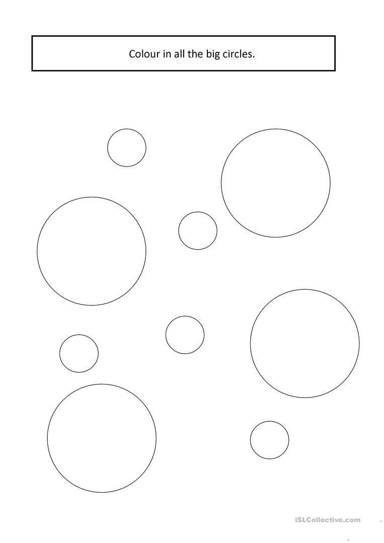 Big & Small Circles Worksheet - Free Esl Printable Worksheets Made | Circle Printable Worksheets