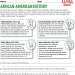Black History Month Printables | Time For Kids | Everything | Black History Month Free Printable Worksheets