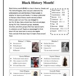 Black History Month! Worksheet   Free Esl Printable Worksheets Made | Black History Month Free Printable Worksheets