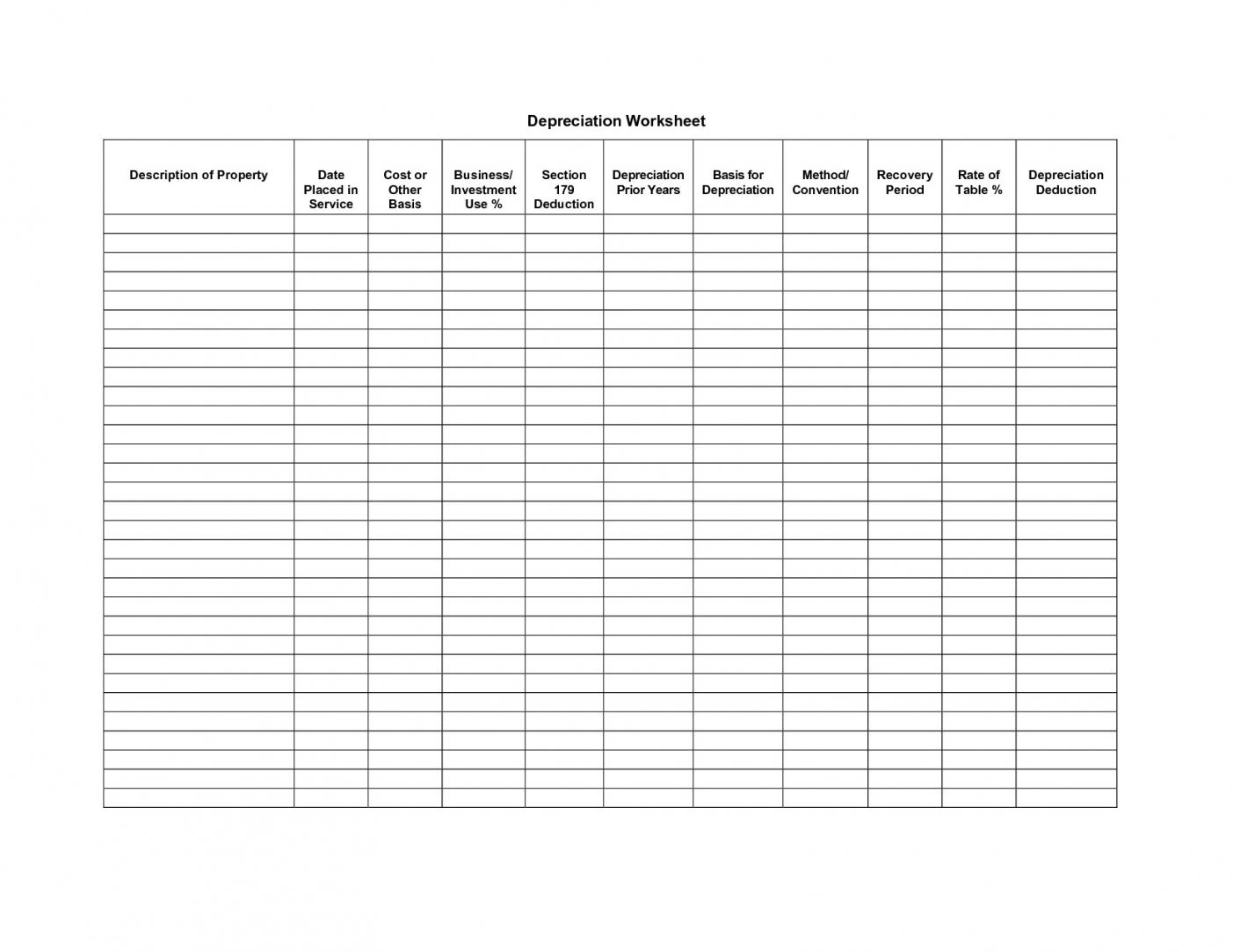 Blank Accounting Worksheets - Hashtag Bg | Accounting Worksheet Template Printable
