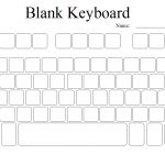 Blank Computer Keyboard | Keyboarding Lessons | Keyboard, Computer | Blank Keyboard Worksheet Printable