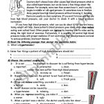 Blood Pressure   Esl Worksheetmshmsh | Blood Pressure Worksheets Printable