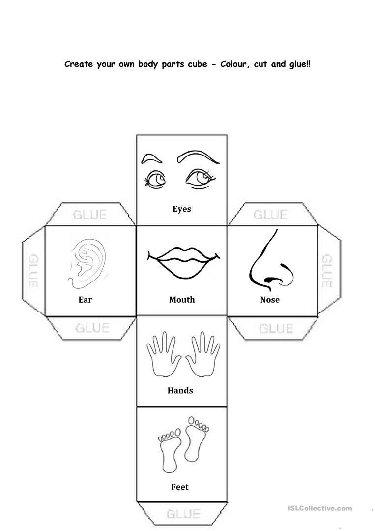 Body Parts Worksheet - Free Esl Printable Worksheets Made   Free Printable Worksheets Kindergarten Body Parts
