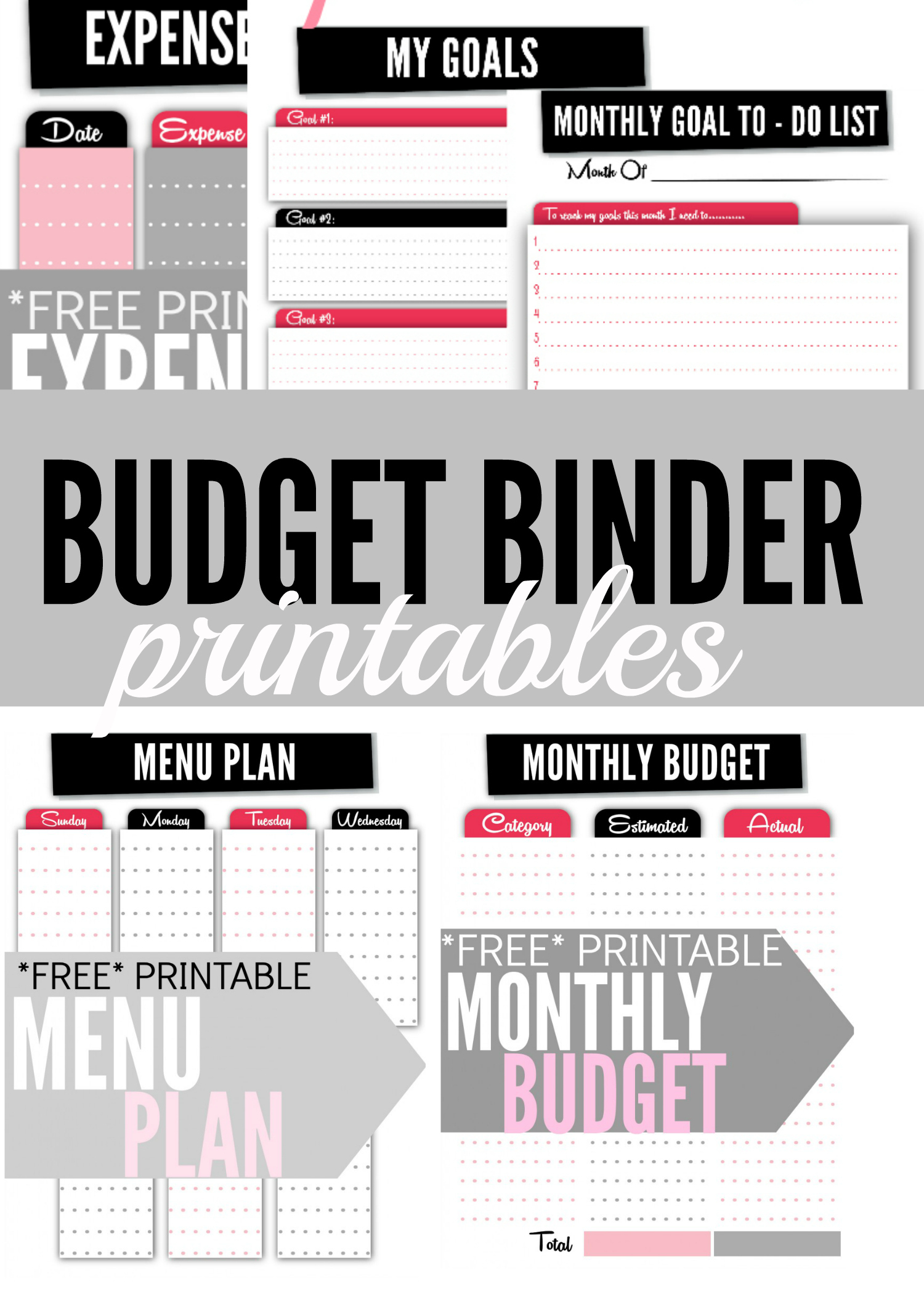 Budget Binder Printables - Single Moms Income | Printable Budget Binder Worksheets