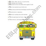 Bus Safety   Esl Worksheetisabelri | Free Printable School Bus Safety Worksheets