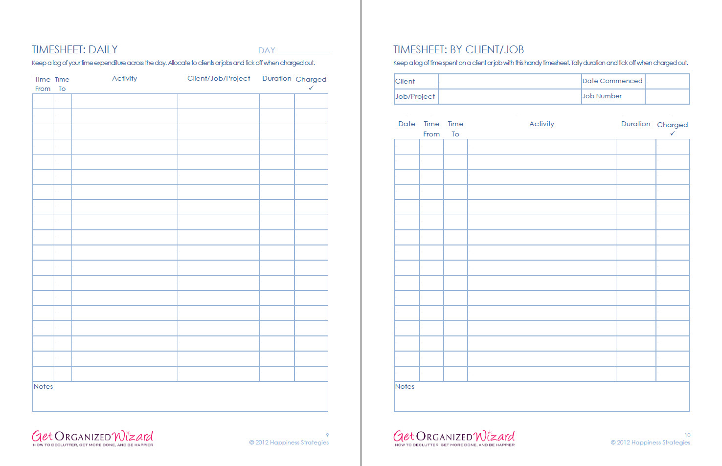 Business & Marketing Worksheets - Get Organized Wizard | Business Worksheets Printables
