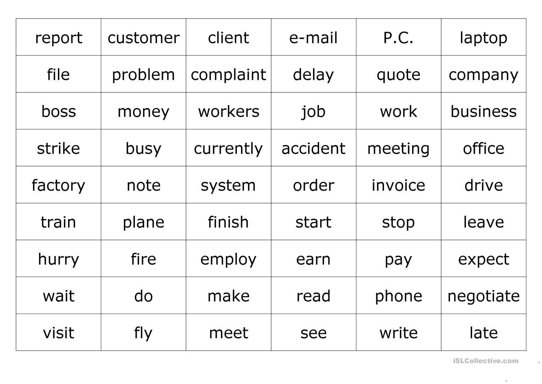 Business Vocabulary Worksheet - Free Esl Printable Worksheets Made | Business Worksheets Printables