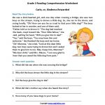 Carlo Or Kindness Rewarded Second Grade Reading Worksheets | Reading | Free Printable 3Rd Grade Reading Worksheets