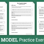 Cbt Practice Exercises (Worksheet) | Therapist Aid   Free Printable | Free Printable Counseling Worksheets
