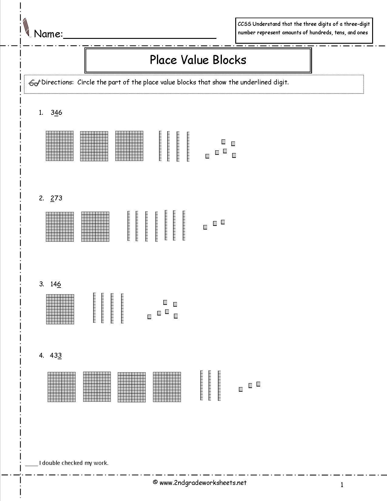 Ccss 2.nbt.1 Worksheets Place Value Worksheets. | Place Value Hundreds Tens Ones Worksheets Printable