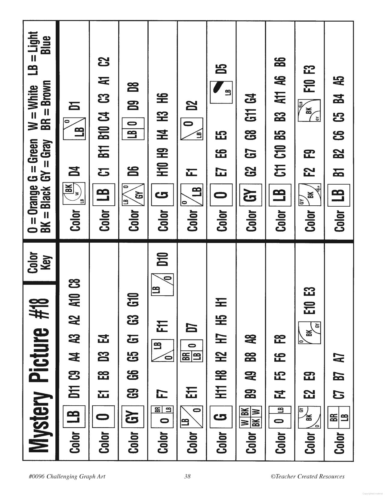 Challenging Graph Art   4Th Grade   Art Worksheets, Map Design   Free Printable Graph Art Worksheets