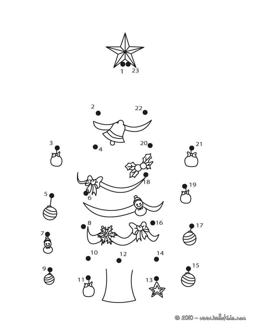 Christmas Dot To Dot - 24 Free Dot To Dot Printable Worksheets For Kids | Free Christmas Connect The Dots Worksheets Printable