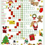 Christmas Fun   Crossword Worksheet   Free Esl Printable Worksheets | Christmas Fun Worksheets Printable Free