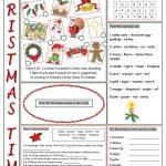 Christmas Time Vocabulary Exercises Worksheet   Free Esl Printable | Christian Christmas Worksheets Printable Free