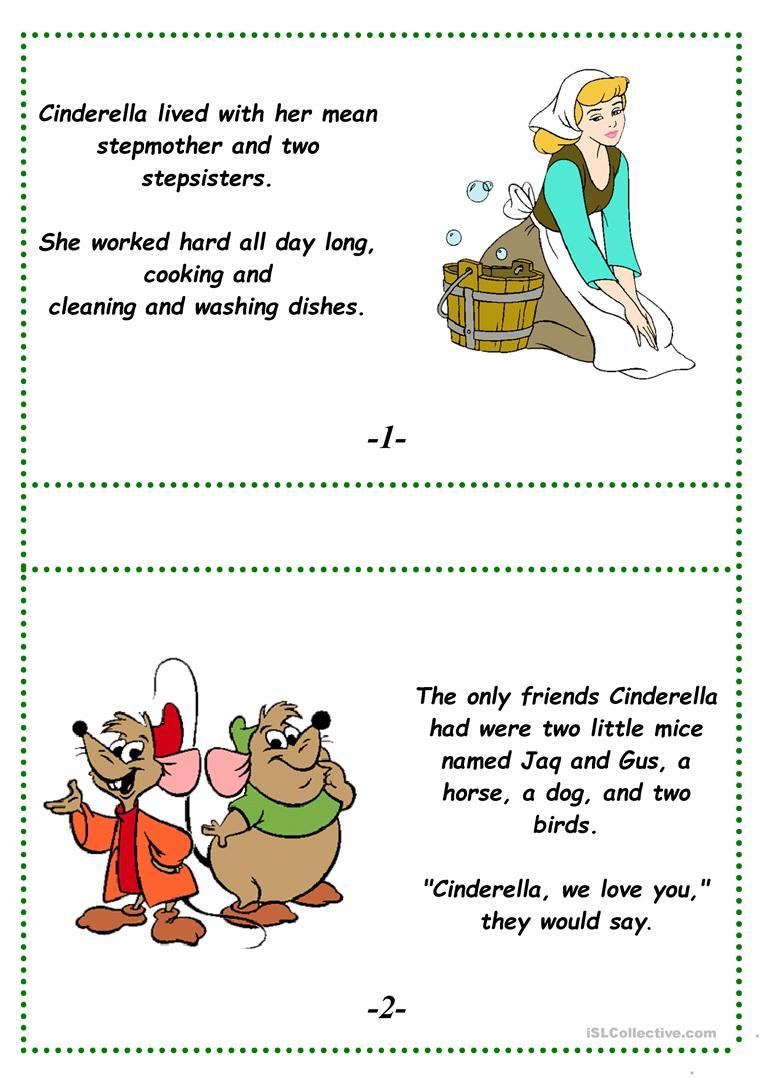 Cinderella (A Fairy Tale) Worksheet - Free Esl Printable Worksheets | Fairy Tales Printable Worksheets