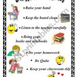 Classroom Rules – Esl Worksheetxyz5 | Free Printable Classroom Rules Worksheets