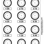 Clock Telling Time Worksheet Printable | Worksheetfun   Free | Kindergarten Clock Worksheet Printables