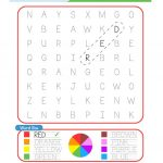 Color / Colours Word Search Plus Writing Practice Worksheet   Free | Colours Wordsearch Printable Worksheets