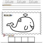 Color Words Worksheet Blue *free | Color Words | Color Worksheets | Free Printable Kindergarten Worksheets Color Words