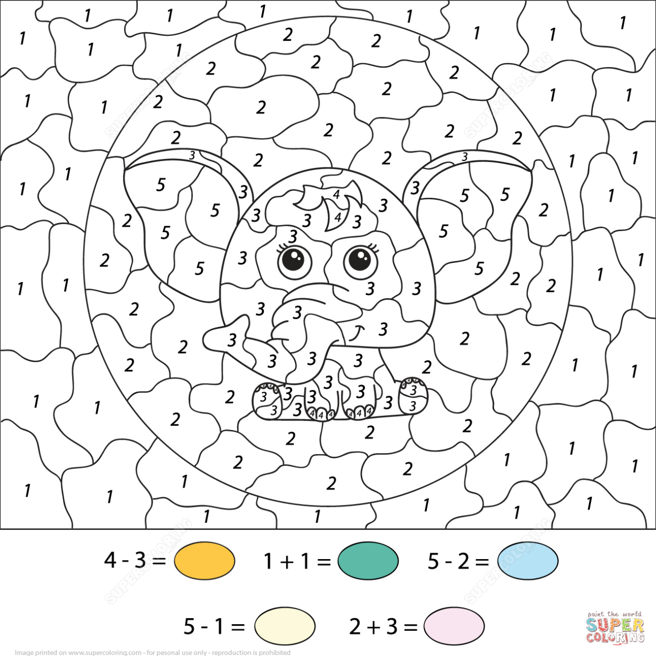Coloring ~ Colornumber Math Worksheets Authenticlour Numbers | Free Printable Color By Number Addition Worksheets