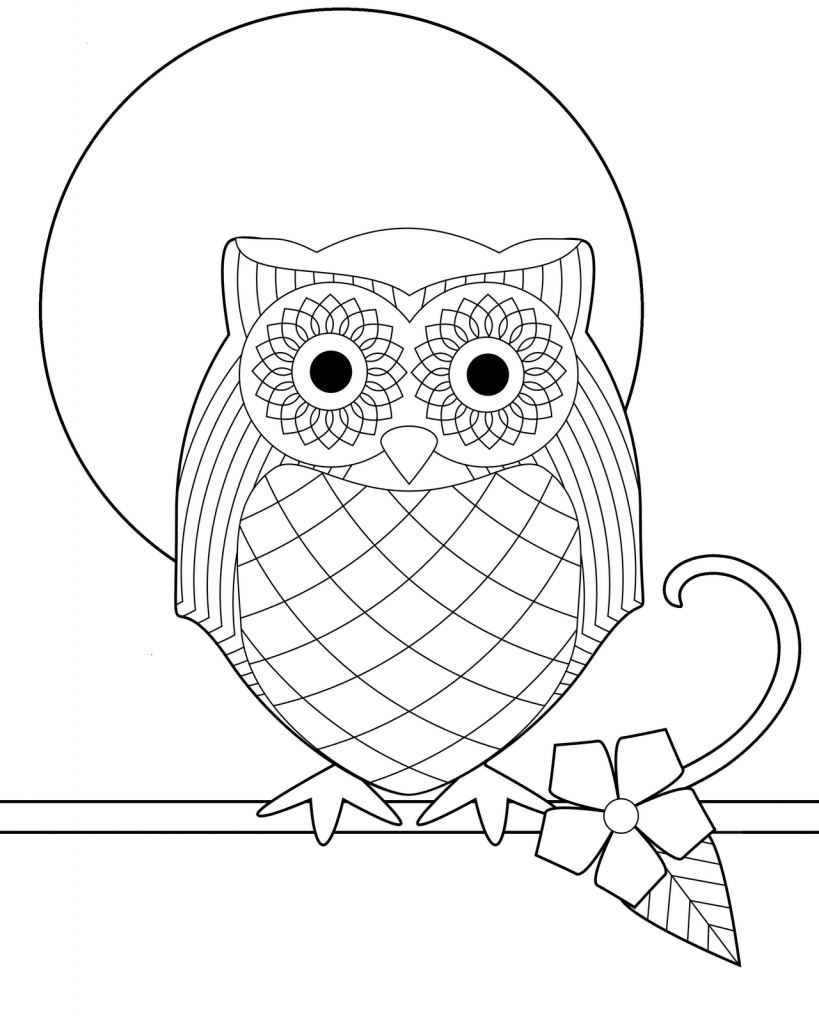 Coloring Page ~ Printable Owl Colorings Owls Free For Kids | Owl Babies Printable Worksheets