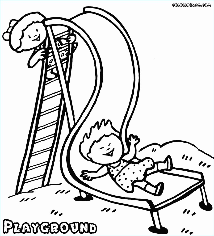 Coloring ~ Playground Coloring Pages New Tourmandu Picture | Free Printable Playground Coloring Worksheets