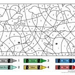 Colornumber Printables   Color  Number   Printable Numbers   Free Printable Color By Number Addition Worksheets
