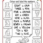 Colour The Numbers Worksheet   Free Esl Printable Worksheets Made | Numbers Printable Worksheets