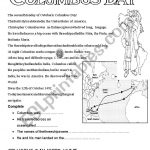 Columbus Day   Esl Worksheetannie8 | Columbus Day Worksheets Printable