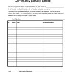 Community Service Worksheet | Briefencounters | Community Service Printable Worksheets