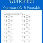 Comparing Fractions Worksheet   Customizable And Printable | Math | Printable Worksheet Maker