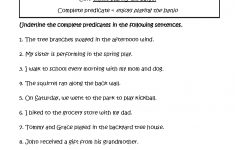 Complete Predicates Worksheet | Englishlinx Board | Subject | Free Printable Subject Predicate Worksheets 2Nd Grade