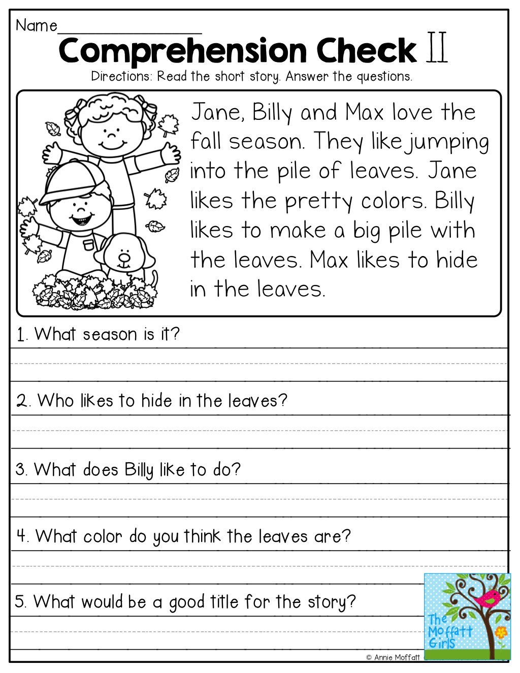 Comprehension Checks And So Many More Useful Printables! | Test Of | Free Printable Comprehension Worksheets For Grade 5