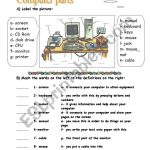 Computer Parts   Esl Worksheettotya ( F ) | Computer Worksheets Printables