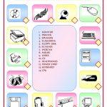 Computer Parts Match Worksheet   Free Esl Printable Worksheets Made | Parts Of The Computer Worksheet Printable