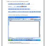 Computer Skills Worksheets | Computer Skills 1 Microsoft Word | Printable Computer Worksheets For Grade 2