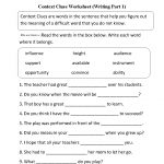 Context Clues Worksheet Writing Part 1 Intermediate  Free Worksheets | Free Printable Language Arts Worksheets 7Th Grade
