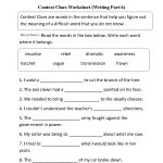 Context Clues Worksheet Writing Part 6 Intermediate   Great English   Context Clues Printable Worksheets 6Th Grade