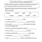 Context Clues Worksheet Writing Part 8 Intermediate   Reading Games   Context Clues Printable Worksheets 6Th Grade