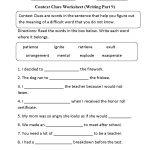 Context Clues Worksheet Writing Part 9 Intermediate   Context Clues   Context Clues Printable Worksheets 6Th Grade