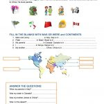 Continents And Countries Worksheet   Free Esl Printable Worksheets | Continents Worksheet Printable
