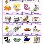 Cooking Verbs 2   Esl Worksheetawsana | Cooking Verbs Printable Worksheets