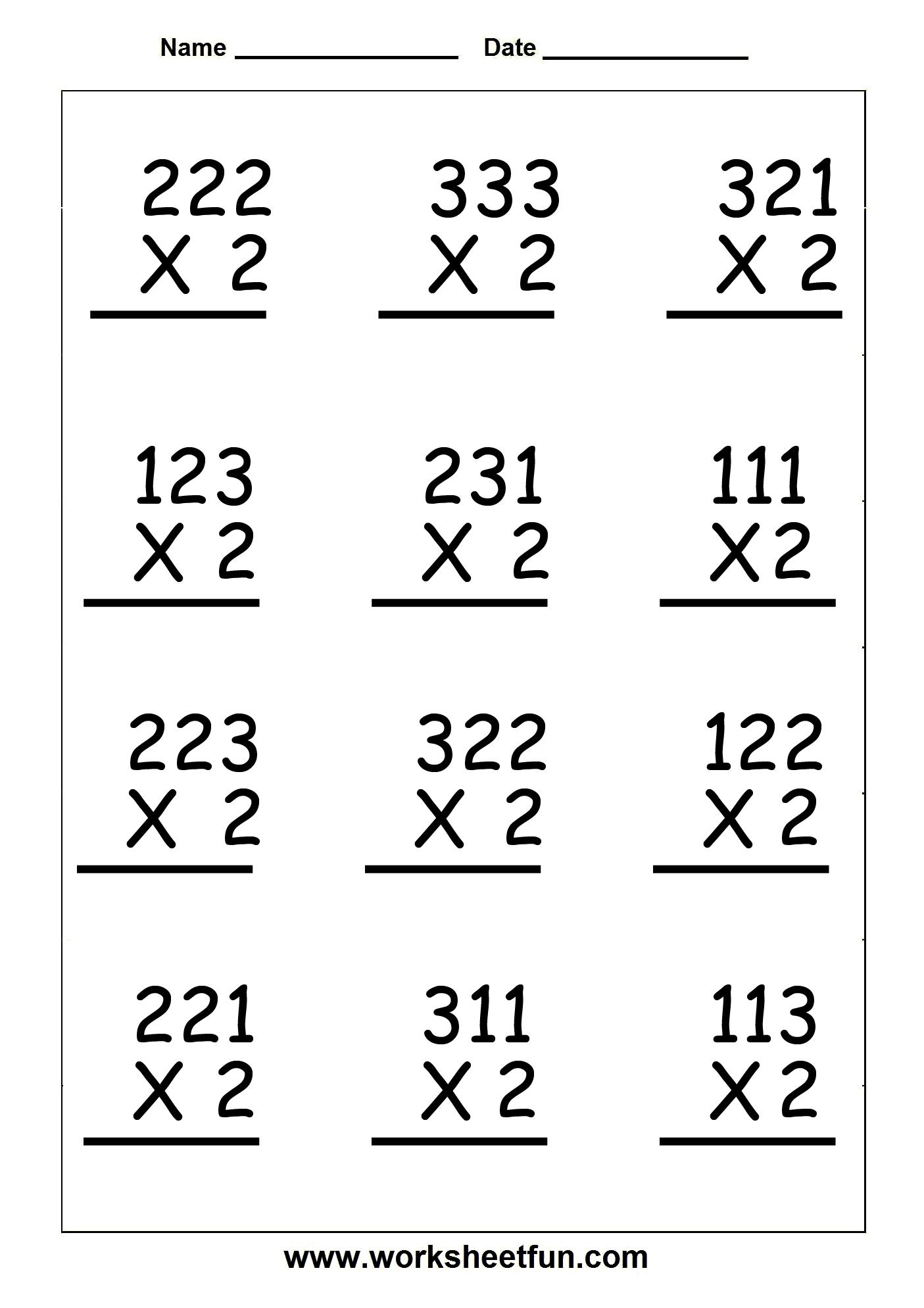 Copy Of Single Digit Multiplication Worksheets - Lessons - Tes Teach   3 Digit Multiplication Worksheets Printable