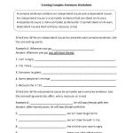 Creating Complex Sentences Worksheet | 7Th Grade Ela Classroom | Free Printable Language Arts Worksheets 7Th Grade