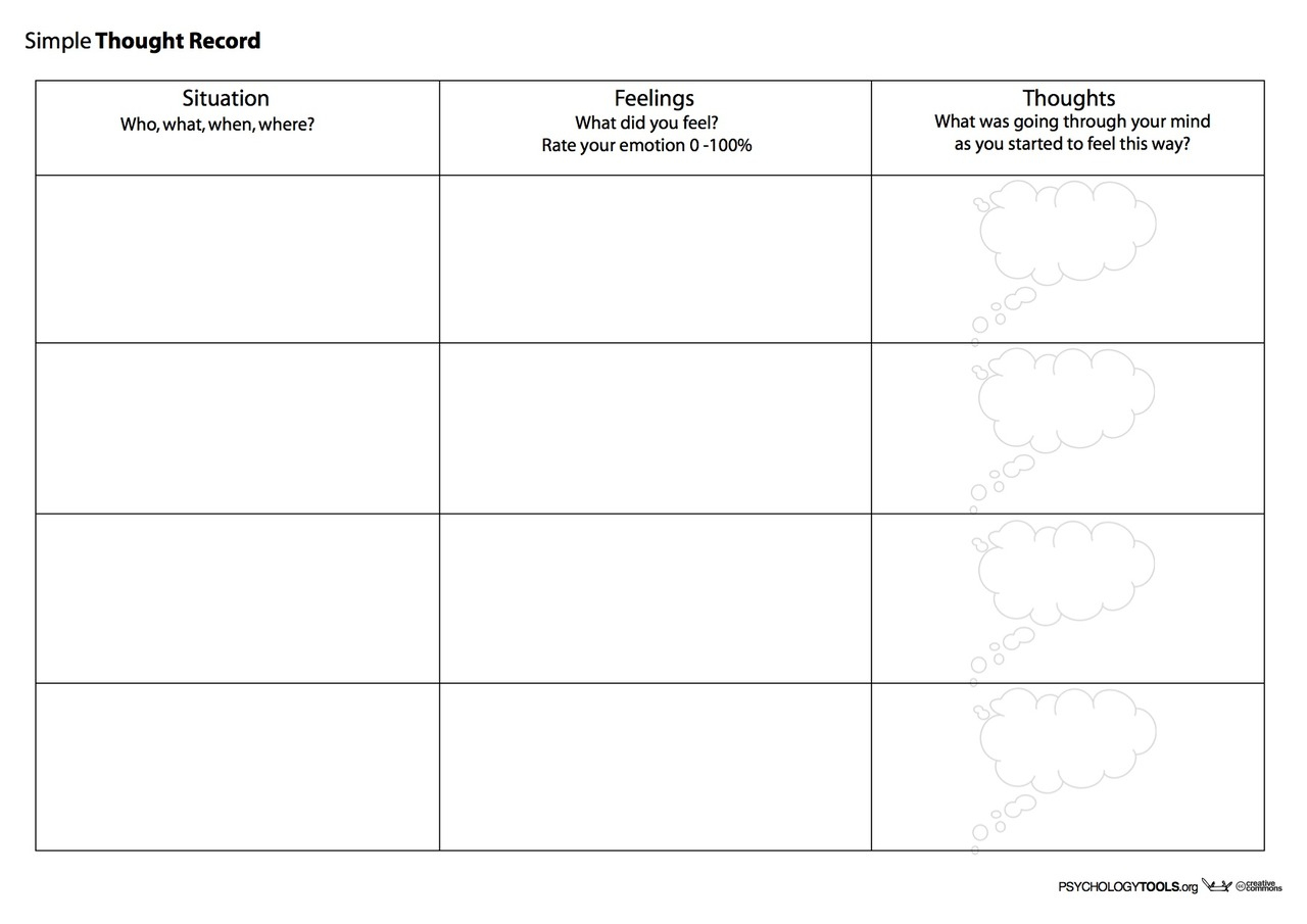 Creative Clinical Social Worker: Downloadable Cognitive Behavioral | Free Printable Therapy Worksheets
