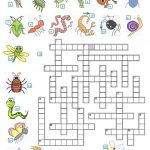 Crossword   Insects And Reptiles Worksheet   Free Esl Printable | Free Printable Reptile Worksheets